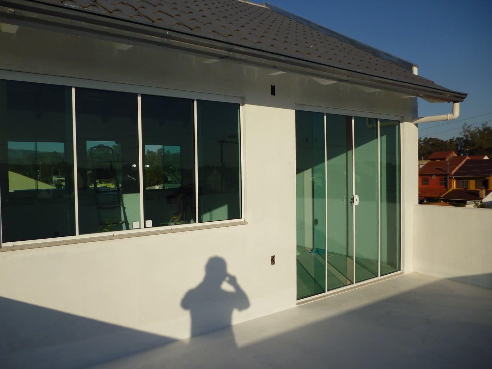 #663619 Obras RB Vidros 2004 Janela De Aluminio Vidro Fume